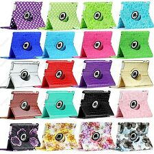 Polka Dot Flower Map 360 Rotate Leather Case Smart Cover For iPad 4 3 2 Mini 1