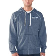 Seattle Seahawks Victory Mock Full-Zip Hoodie - Navy - NFL