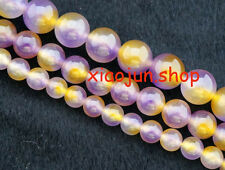 Natural 6/8/10mm colorful Purple Kunzite GEMSTON ROUND BEADS 15''AAA