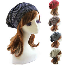 Simple Fashion Womens Knit Baggy Beanie Beret Winter Warm Oversized Ski Cap Hat