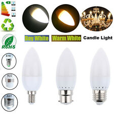 E27 E14 B22 Bombilla CREE LED Candle Bulb Spotlight Lamp Focos Warm/Cool White