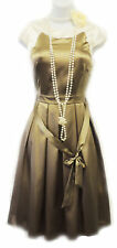 New Vtg 1920's Liquid Satin Gatsby Downton Abbey Flapper Charleston Dress