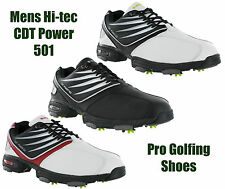 New Mens Hi-Tec CDT Power 501 Golf Waterproof Leather Shoes Trainers Size 6-13