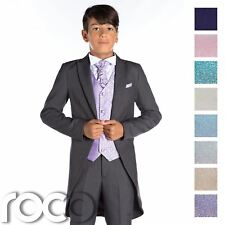 Grey Tail Suit, Boys Wedding Outfits, Prom Suit, Page Boy Suit, Boys Grey Suit