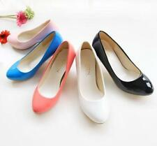 New Hot Ladies Womens Patent Leather Kitten High Heel Pumps Shoes All UK Size
