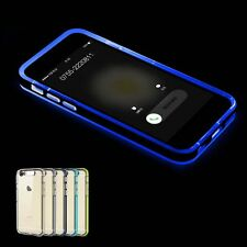 Ultra-thin Crystal TPU Incoming Call Bumpers Case Cover for iPhone 5s 6&6s Plus