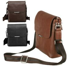 Men's PU Leather Briefcase Mens Casual Business Messenger Single Shoulder Bag
