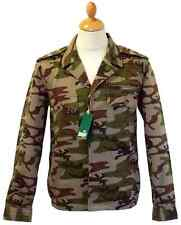 SALE! NEW MENS BUKTA VINTAGE RETRO INDIE MILITARY CAMOUFLAGE JACKET (CAMO) -b3e