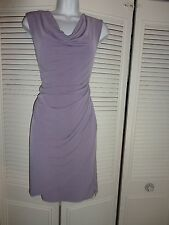 ANN TAYLOR  A LIST SLINKY LAVENDER  RUCHED CAREER DRESS SZ XS