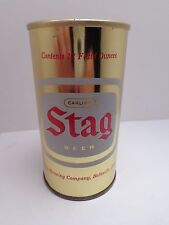 STAG STRAIGHT STEEL PULL TAB BEER CAN #125-35-A  CARLING BERWING BELLEVILLE, IL.
