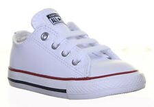 Converse 735892 Kids Leather Plimsolls Trainers Uk Sizes
