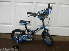 """BOYS BIKE 12""""in or 14""""in wheel with stabilisers NEW SHARK"""