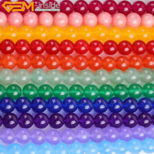"Round Jade Stone Loose Beads For Jewelry Making 15"" Wholesale Jewelry Beads"