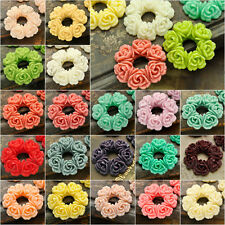 Resin Flowers 29x29 Flatback Wholesale Cameo Fit Cabochons Settings Choose Color