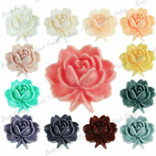 DIY 18x17mm Resin Cameo Cabochons Flatback Rose Flower Vintage style wholesale