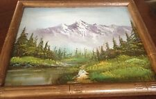 LOVELY LANDCAPE OIL PAINTING ON BOARD IN FRAME