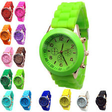 Hot Cheap Geneva Silicone Band Quartz Jelly Wrist Watches For Women/Ladies/Girls