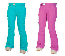 686 Womens Snowboard Pants - Mannual Prism - Insulated, Pink, Turquoise