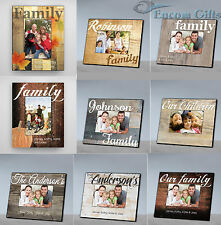 Personalized FAMILY PICTURE FRAME Wood PHOTO Frame Wall Desk Home Decor