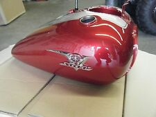 YAMAHA VSTAR 650 2007 CUSTOM RED FUEL TANK WITH LH DENT. WILL FIT OTHER YEARS