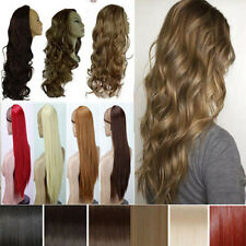 USA 18 colors 25''straight curl Hair Fall Half Wig wigs 3/4 full head real hot