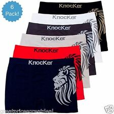 6 12 Mens Seamless #35 Boxer Briefs Shorts Knocker New Microfiber One Size MS#35