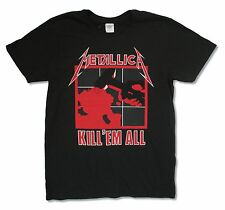 METALLICA KILL EM ALL LIGHTNING BACK BLACK T-SHIRT NEW OFFICIAL ADULT