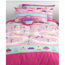 Cubby House Kids Cupcakes Enchanted Forest 2 in 1 Reversible Quilt Cover Set