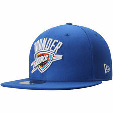 Mens Oklahoma City Thunder New Era Blue Current Logo 59FIFTY Fitted Hat - NBA