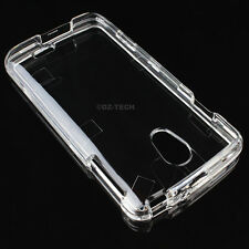 For LG Lucid 3 4G LTE VS876 Crystal Clear Transparent Hard Case Snap On Cover