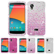 For LG Google Nexus 5 D820 Bling Diamond Rhinestone Hard Case Cover Accessory