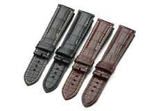 Genuine Alligator Leather Strap Croco Watch Band Men Women 18-22mm For Longines