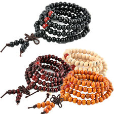 Hot Men/Women Multilayer 6mm Beaded Infinity Charm Bracelet Handmade Jewelry