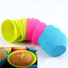 Hot Silicone Soft Round Cake Muffin Chocolate Cupcake Liner DIY Baking Cup Mold