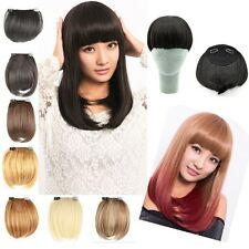 AU neat bangs Clip on Front Neat Bang Fringe clip in Hair Extensions Bangs U1