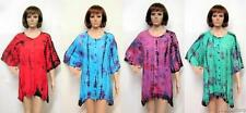 PLUS SIZE TIE DYE BOHO CHIC NOMAD TUNIC TOP 16 18 20 22 24 26 28 30 32