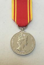 Fire LSGC Long Service Good Conduct Full Size Medal, Mounted Option, Ribbon