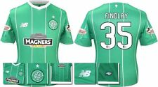 *15 / 16 - NEW BALANCE ; CELTIC AWAY SHIRT SS + PATCHES / FINDLAY 35 = SIZE*