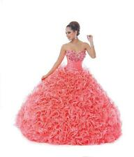 2015 Dress Formal Party Crystal Long Ball Gown Evening Prom Pageant Quinceanera