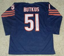DICK BUTKUS SIGNED AUTOGRAPHED CHICAGO BEARS #51 NAVY THROWBACK JERSEY JSA