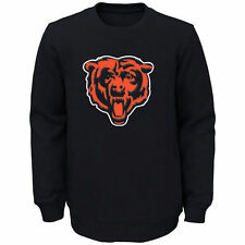 Youth Navy Chicago Bears Prime Fleece Crew Pullover Sweatshirt - NFL