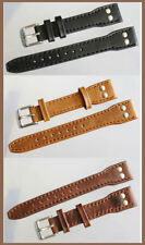 18mm Pilot Strap Style Aviator Watch Band Quality LEATHER Extra Strong