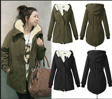 Europe Winter Women's Thicken Warm Jacket Slim Fit Lapel Hooded Cotton clothes