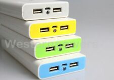 30000mah External Travel Battery Power Bank 2x USB Charger For Phone Galaxy iPad