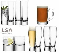 LSA Mouthblown Glass Tumblers, Hiball, Beer or Lager Glasses, Tankards