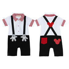Newborn Baby Boy Xmas Halloween Costume Mickey Mouse Romper One piece Outfit Set