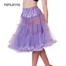 "HELL BUNNY 50s Petticoat Skirt LAVENDER PURPLE AO Long 25"" All Sizes"