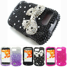 For ZTE Valet Z665C Colorful Bling Diamond Hard Case Snap On Cover Accessory