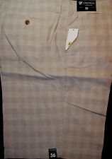 CREMIEUX Nantucket Beige Plaid Cotton Mens Casual Size 36 38 NWT F651 Ret $69.50