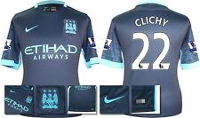 *15 / 16 - NIKE ; MAN CITY AWAY SHIRT SS + PATCHES / CLICHY 22 = SIZE*